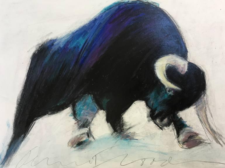770x576 Saatchi Art Raging Bull Drawing By Jeanne Goodman