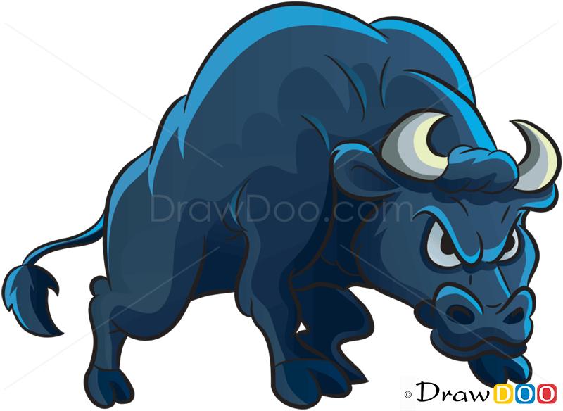 800x584 How To Draw Angry Bull Farm Animals. To Draw Bull Logocow Youtube