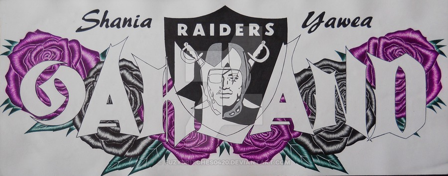 900x355 Shania Nameplate With Oakland Raiders Logo By Fuzybritches0420