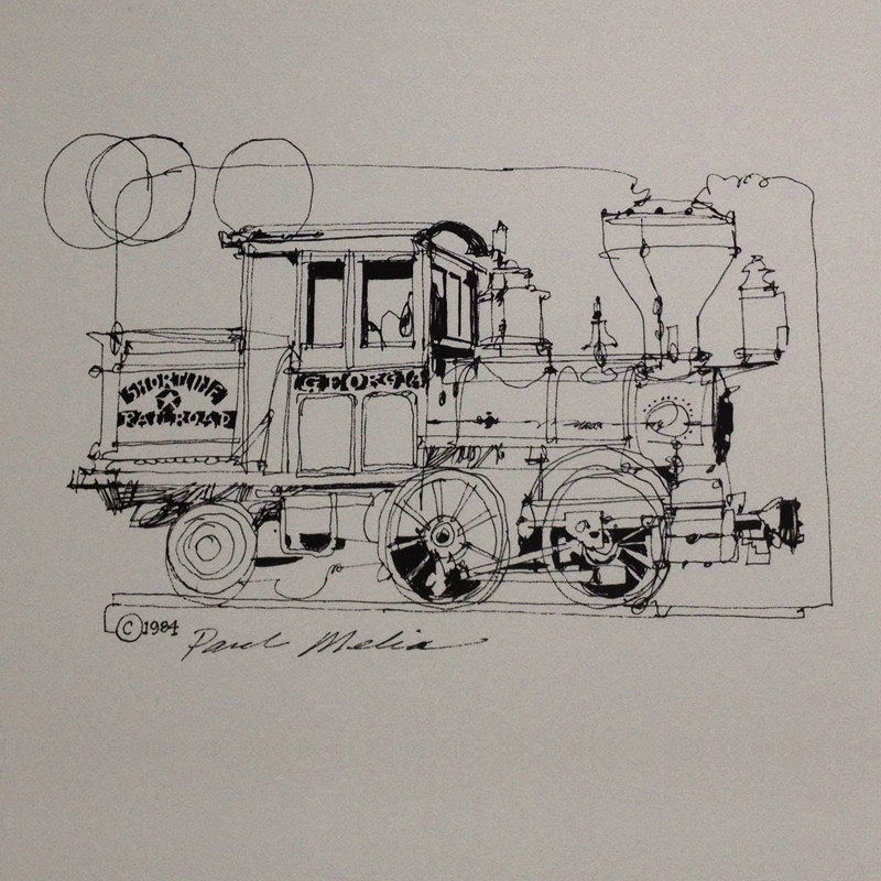 800x800 No. L 41 Railroad Iantique Steamtrain Locomotive Pen