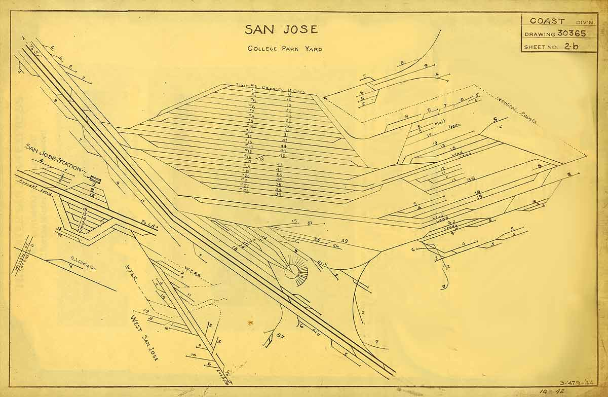 1200x783 Timetables And Maps Southern Pacific In San Jose
