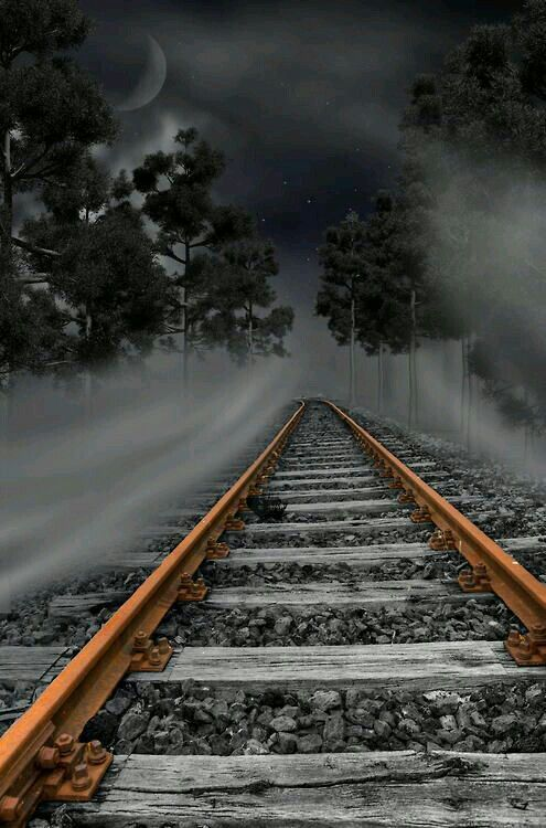 495x750 Tracks Trains Melancholy, Crying And Star