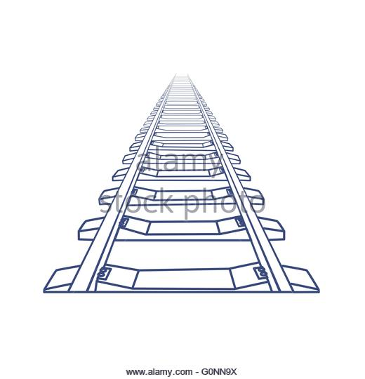 520x540 Traintrack Cut Out Stock Images Amp Pictures