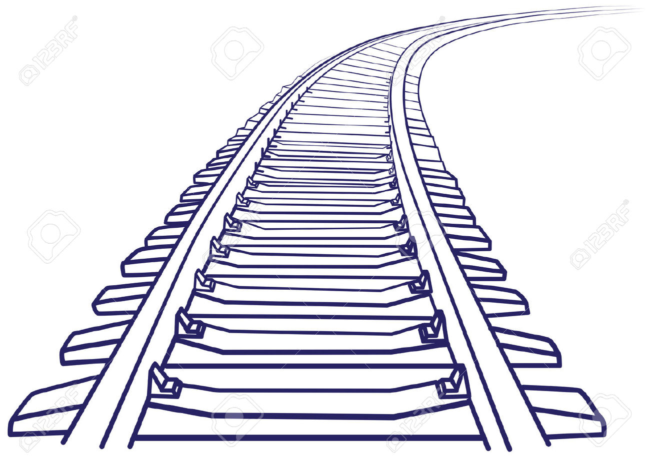 Railway Track Drawing at GetDrawings.com | Free for personal use ...