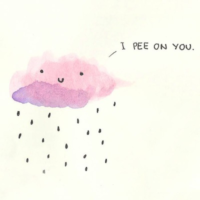 400x400 Cloud, Cute, Draw, Lol, On, Pee, Rain, You A R T