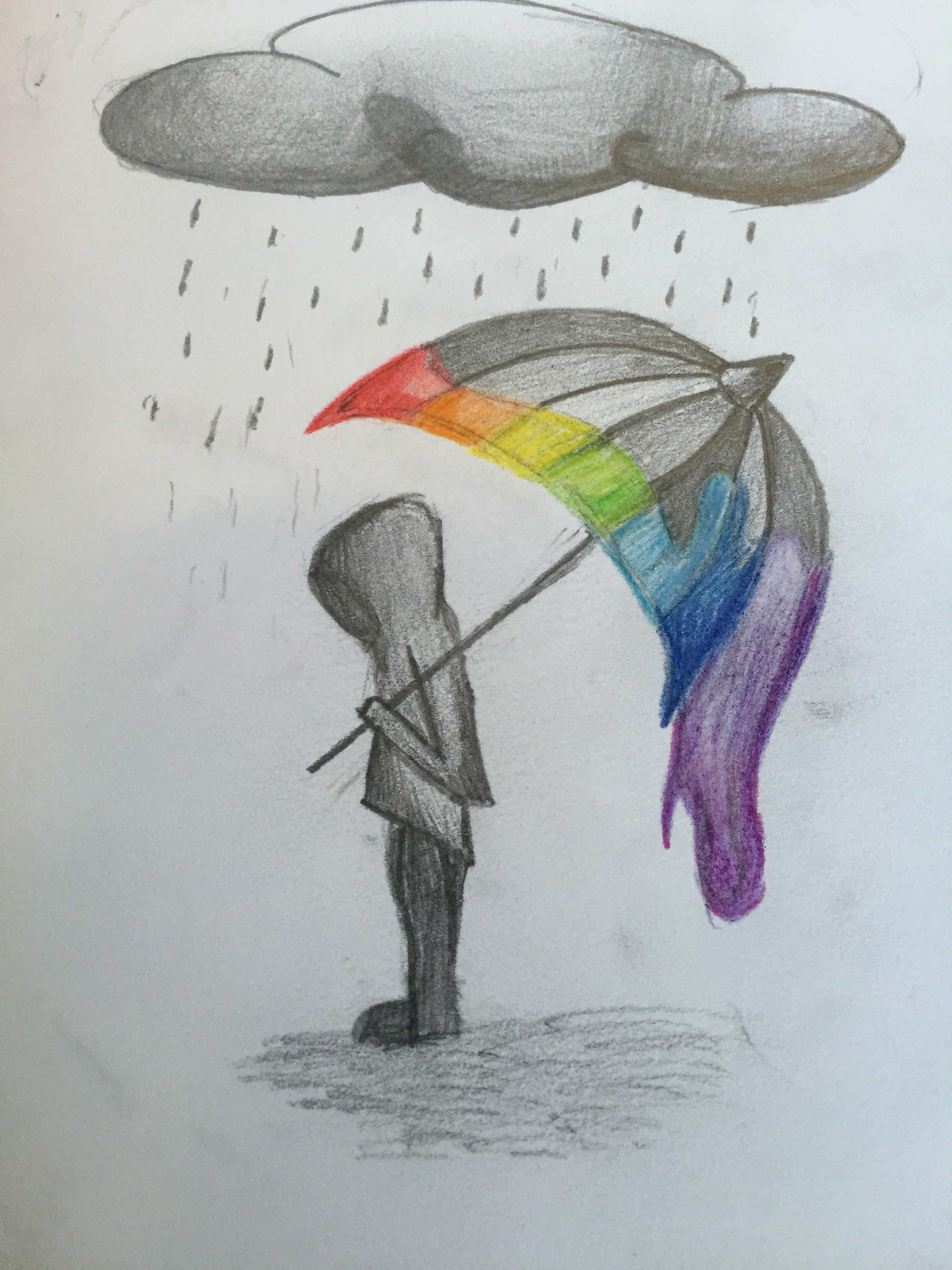 2448x3264 rainbow rain drawing