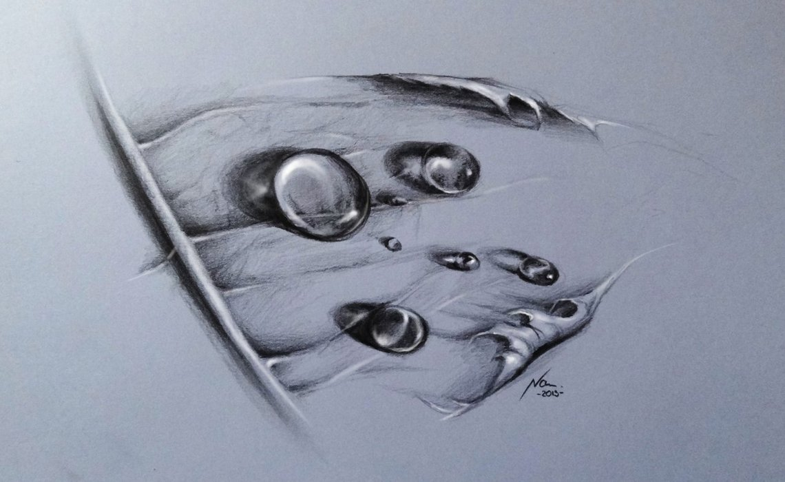 1140x700 Pencil Drawing Water Drops Black And White Drawings Art