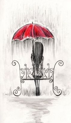 236x408 Image Result For Sad Person With Umbrella Drawing Drawings