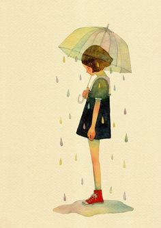236x333 Spring Showers, April, Rain, Umbrella, Drawing, Painting, Design