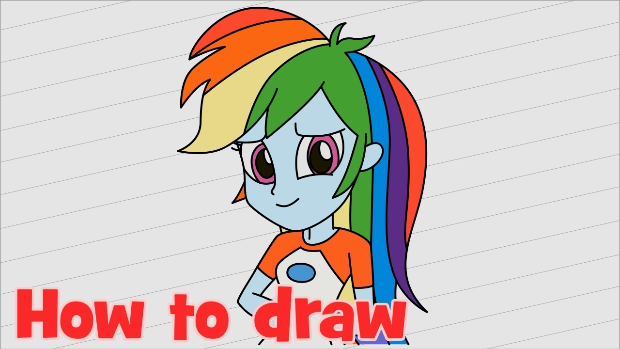 My Little Pony Equestria Girl Legend Of Everfree Ausmalbilder : Rainbow Dash Equestria Girl Drawing At Getdrawings Com Free For