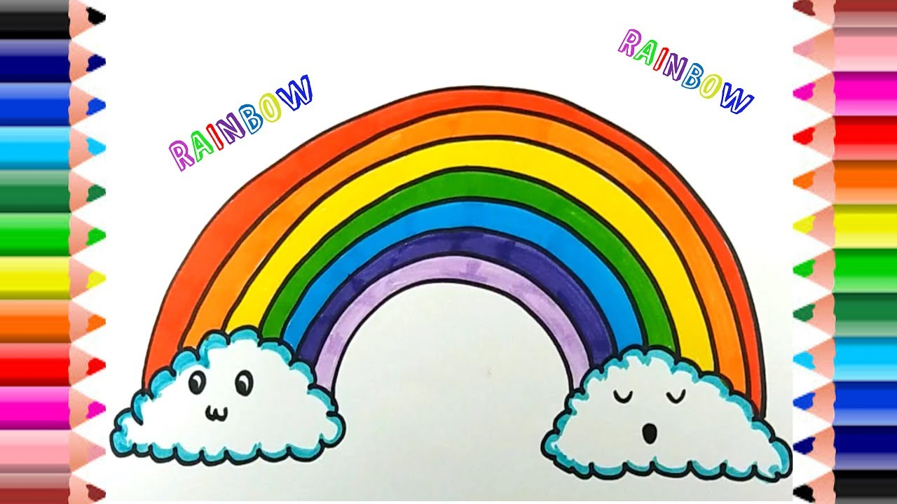1280x720 How To Draw Rainbow Coloring Pages Kids Learn Drawing Art