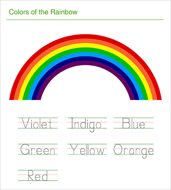Rainbow Drawing Template At GetDrawings