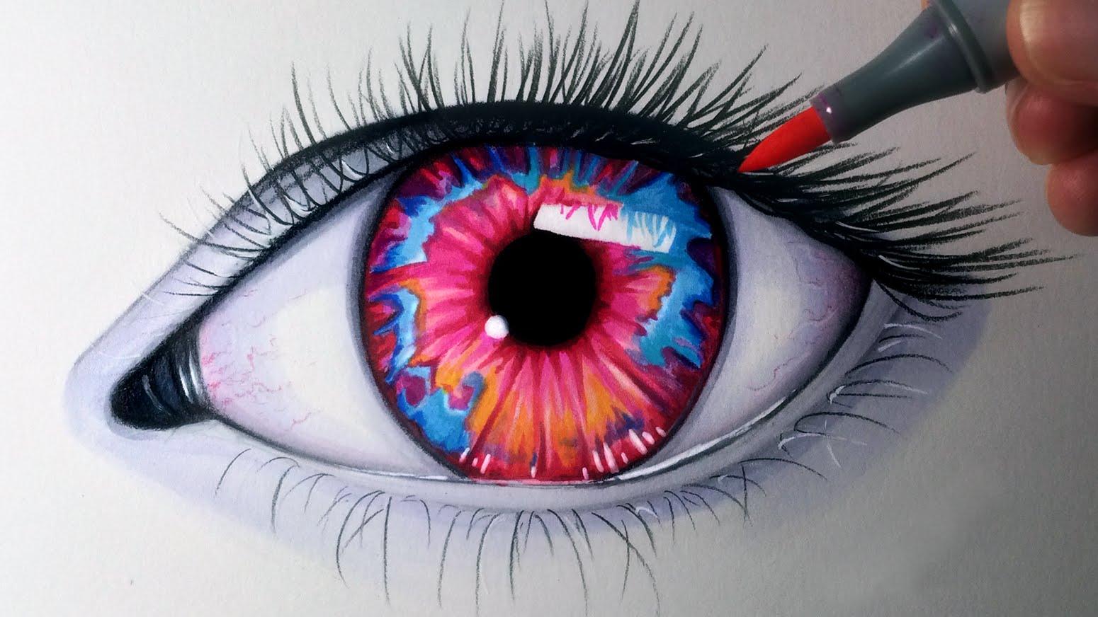 1550x872 Drawing An Opal Coloured Eye
