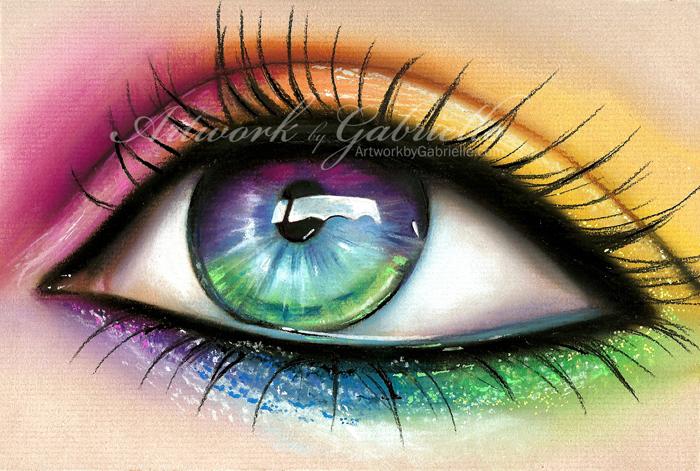 700x471 Rainbow Eye By Gabbyd70