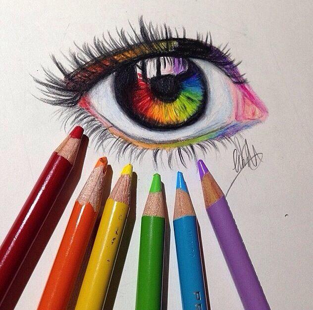 632x626 Rainbow Eye Drawing @naladraws