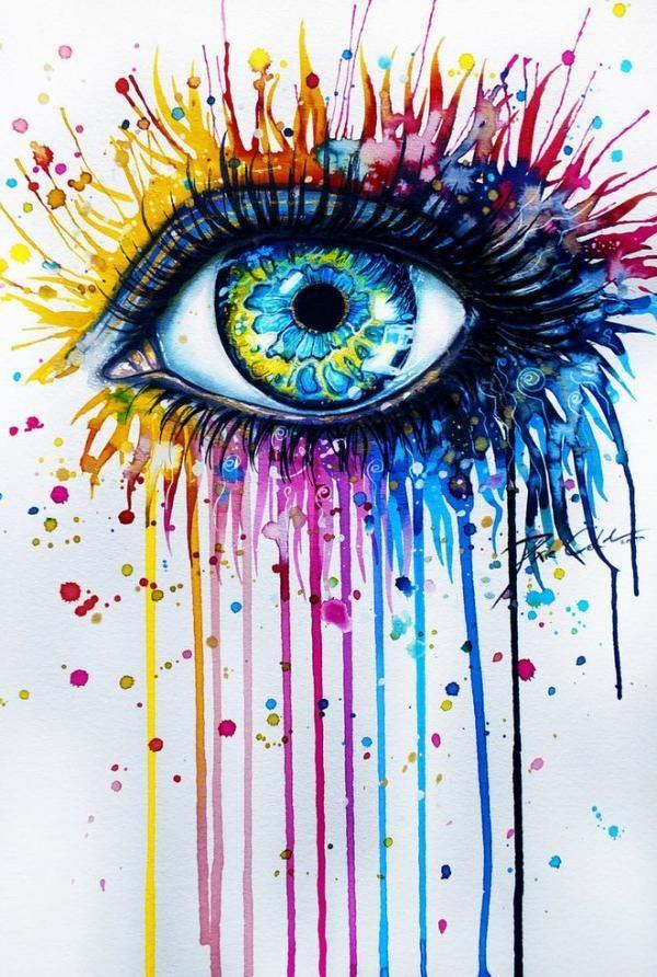 600x892 Eye Rainbow Tears