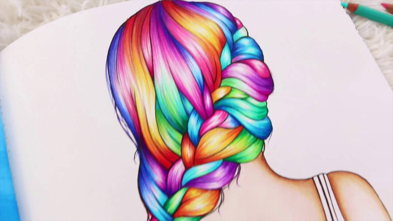 Best Hair Coloring Books Photos - Coloring 2018 - radiodangdut.com