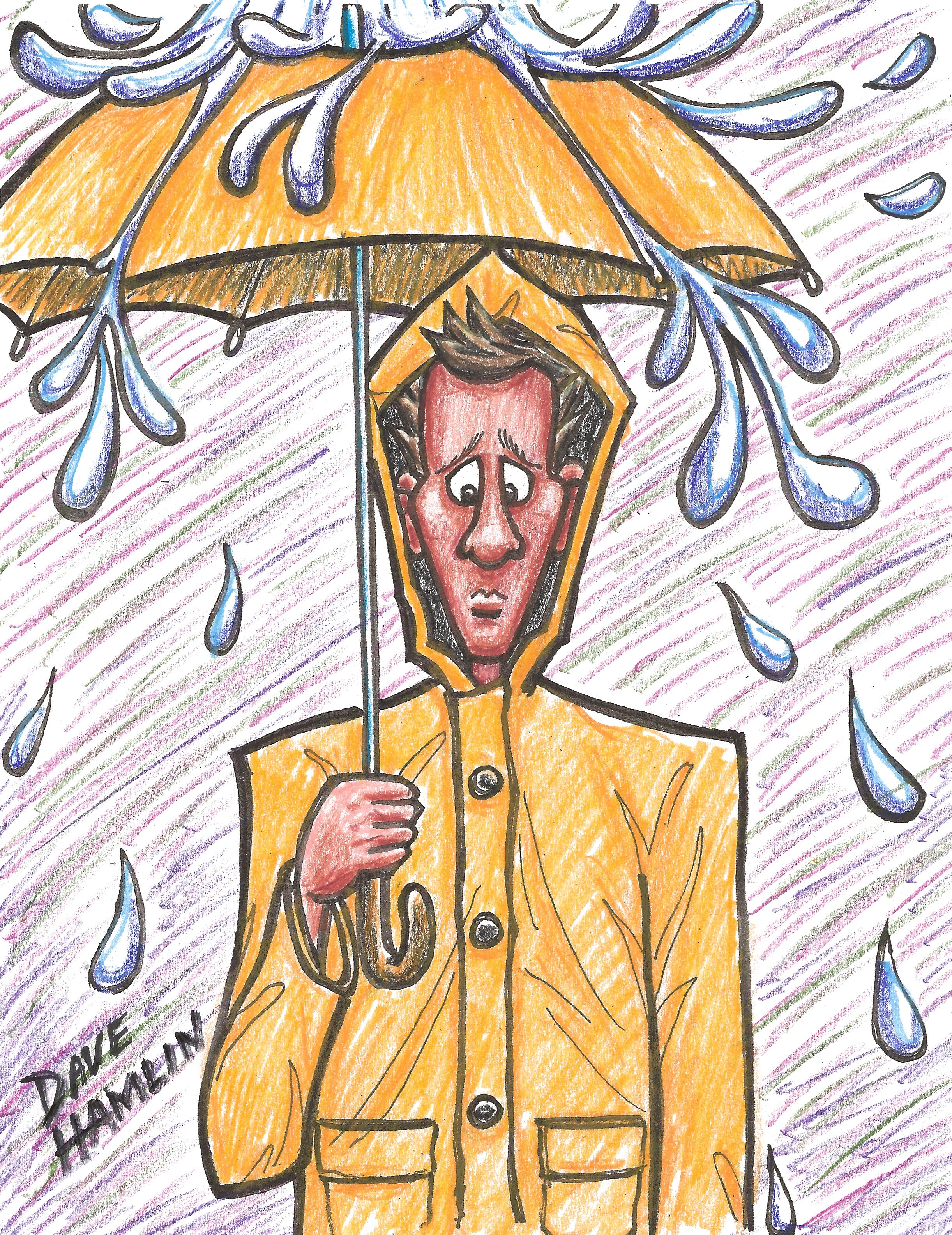 2443x3168 Raincoat Drawing From Experience