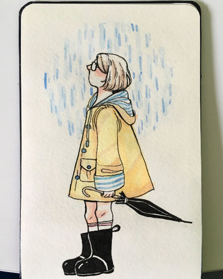 320x400 Raincoat Drawings On Paigeeworld. Pictures Of Raincoat