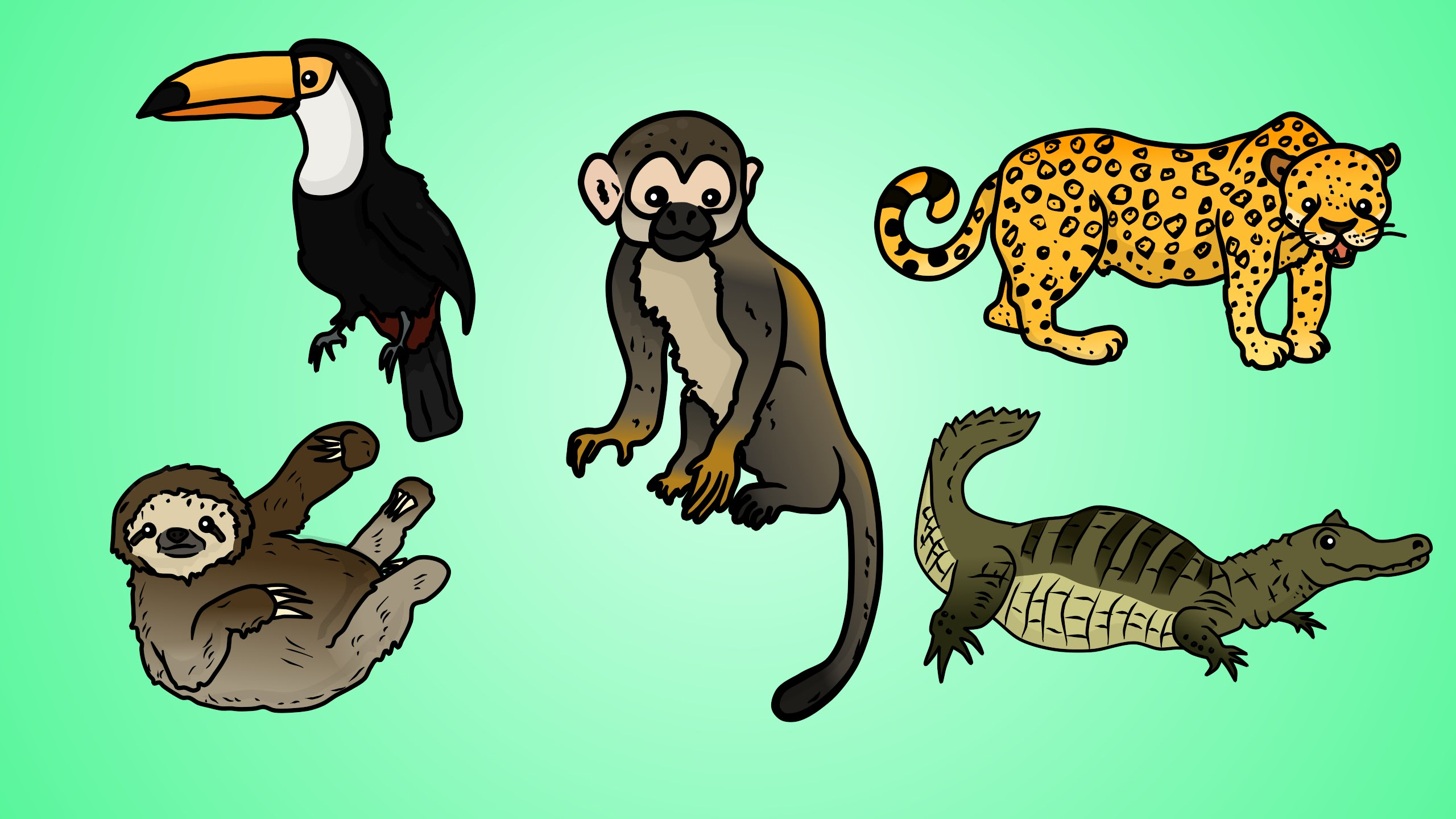 Rainforest Animal Drawing at GetDrawings.com | Free for personal use ...