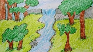 320x180 Category How To Draw Scenery Of Rainforest Step By Step Simple Draw