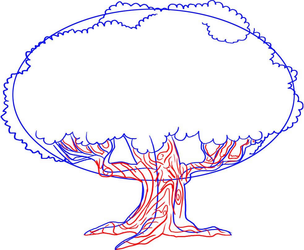 983x809 Pin Drawn Rainforest Rainforest Plant 7. Learn How To Draw Trees