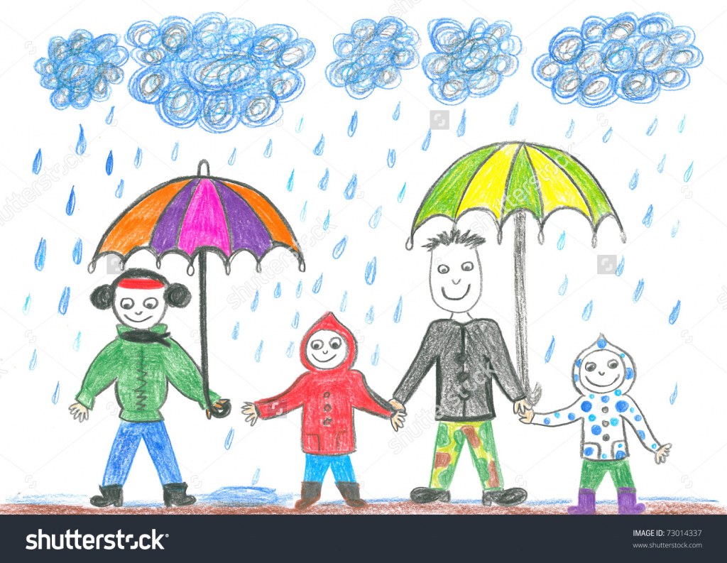 1024x793 Rainy Day Drawing For Children Drawing Of Rainy Day