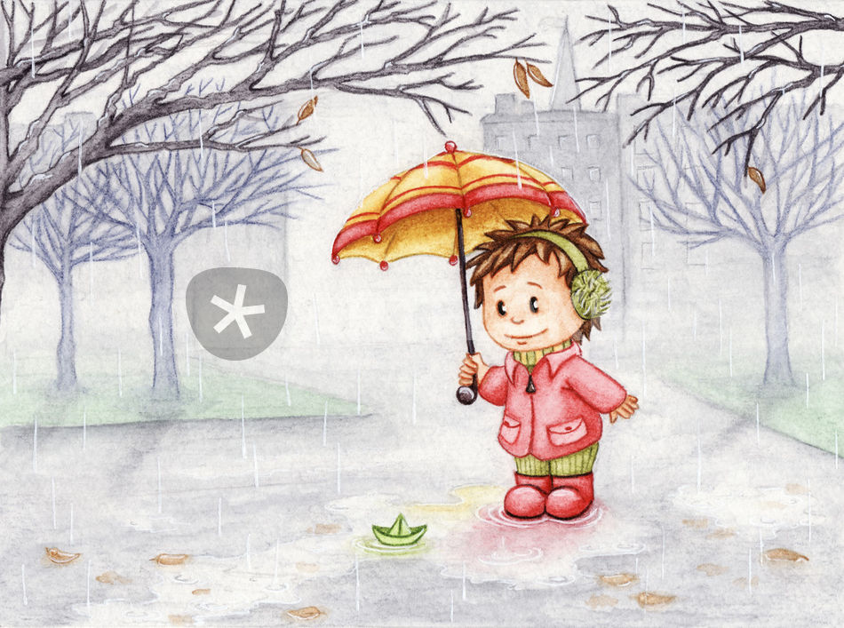 950x707 Rainy Day Drawing Art Prints And Posters By Ilona Sula