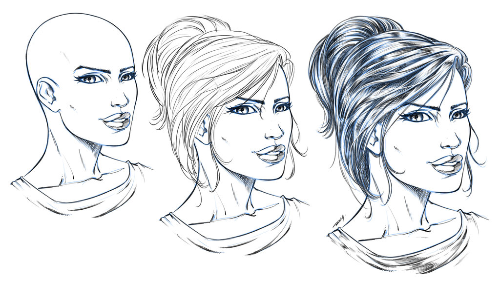 1024x576 How To Draw Hair By Robert Marzullo By Robertmarzullo