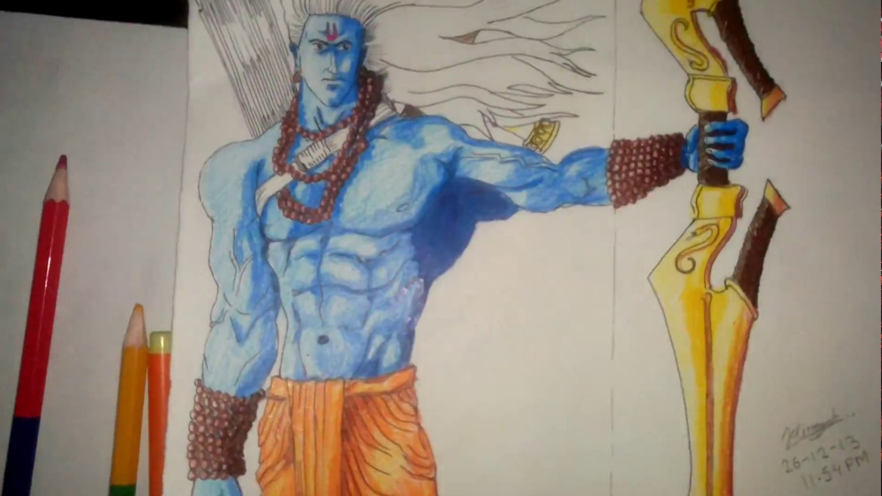 1280x720 My First Colour Drawing Of Shree Ram