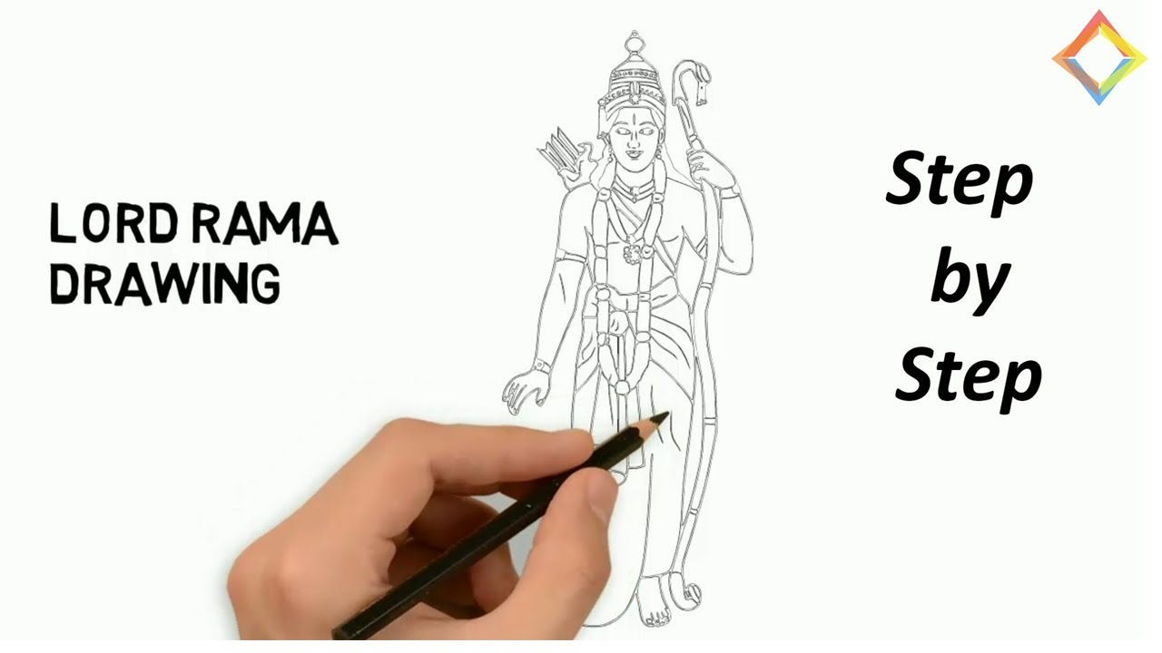 1280x720 Shree Ram Drawing Step By Step, Diwali Competition Drawing Ideas