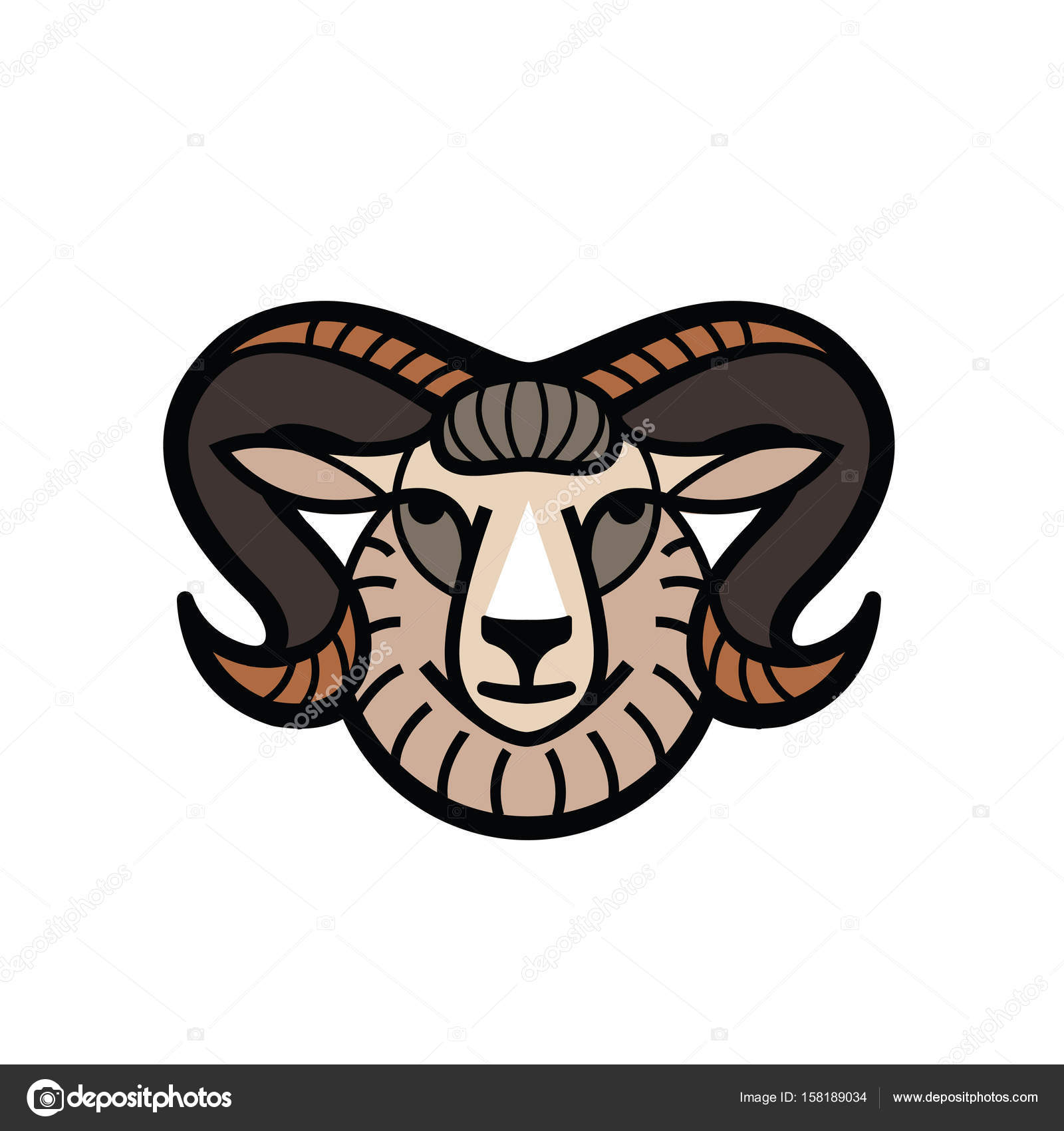 87810481a Ram Head Drawing at GetDrawings.com | Free for personal use Ram Head ...