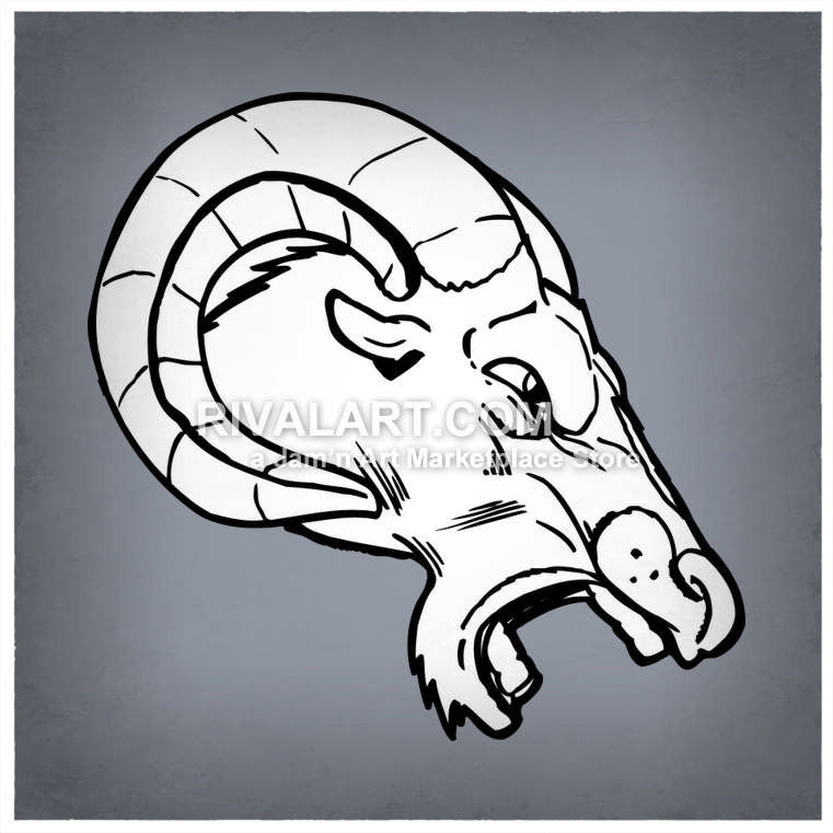761x761 Mad Rams Head Side View