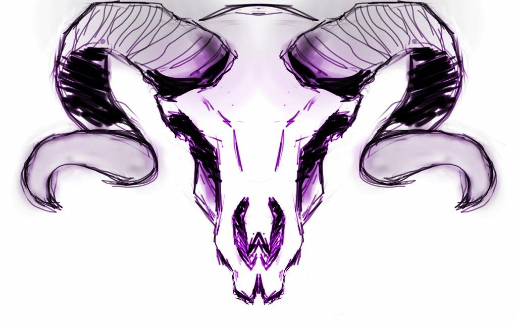 1024x640 Ram Skull By Chocobina