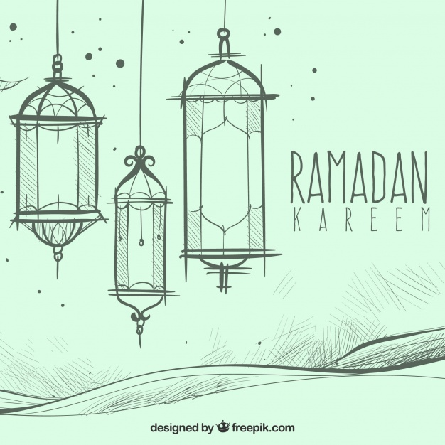 626x626 Hand Drawn Ramadan Kareem Background Vector Free Download