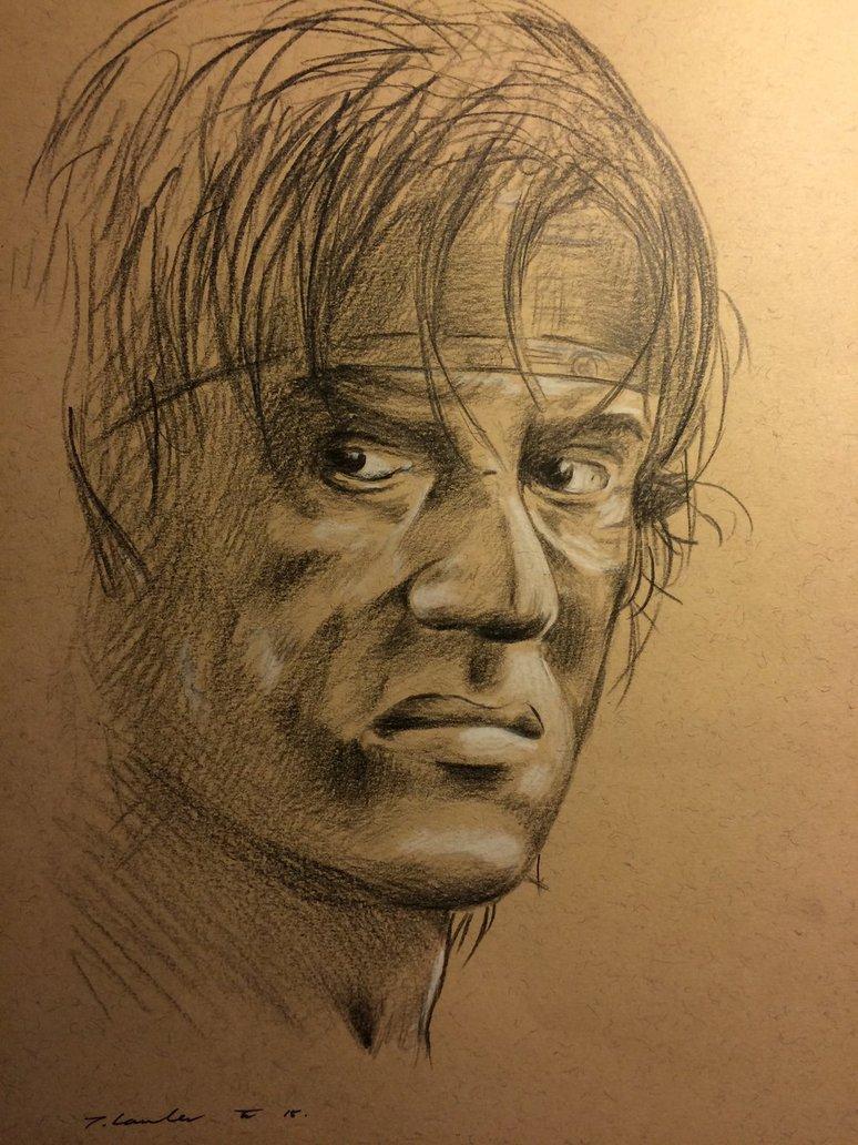 774x1032 John Rambo Sylvester Stallone Drawing By Billyboyuk