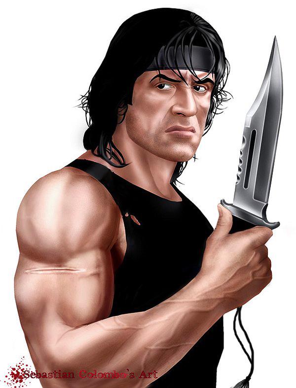 600x787 Rambo By Supersebas