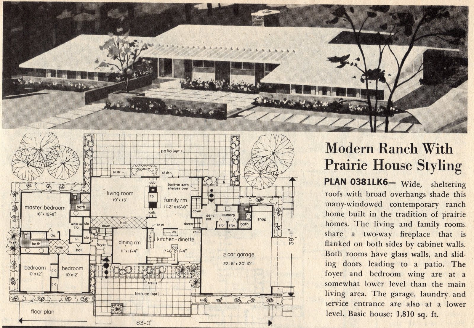 1600x1108 Curb Appeal For A Mid Century Ranch Home Mad Drawing With Modern