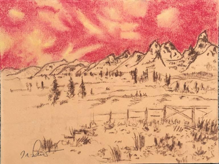 770x576 Saatchi Art Elk Flats Ranch Drawing By G R Dexter