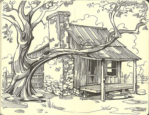 500x385 Old Ranch House Ranch, House And Drawings
