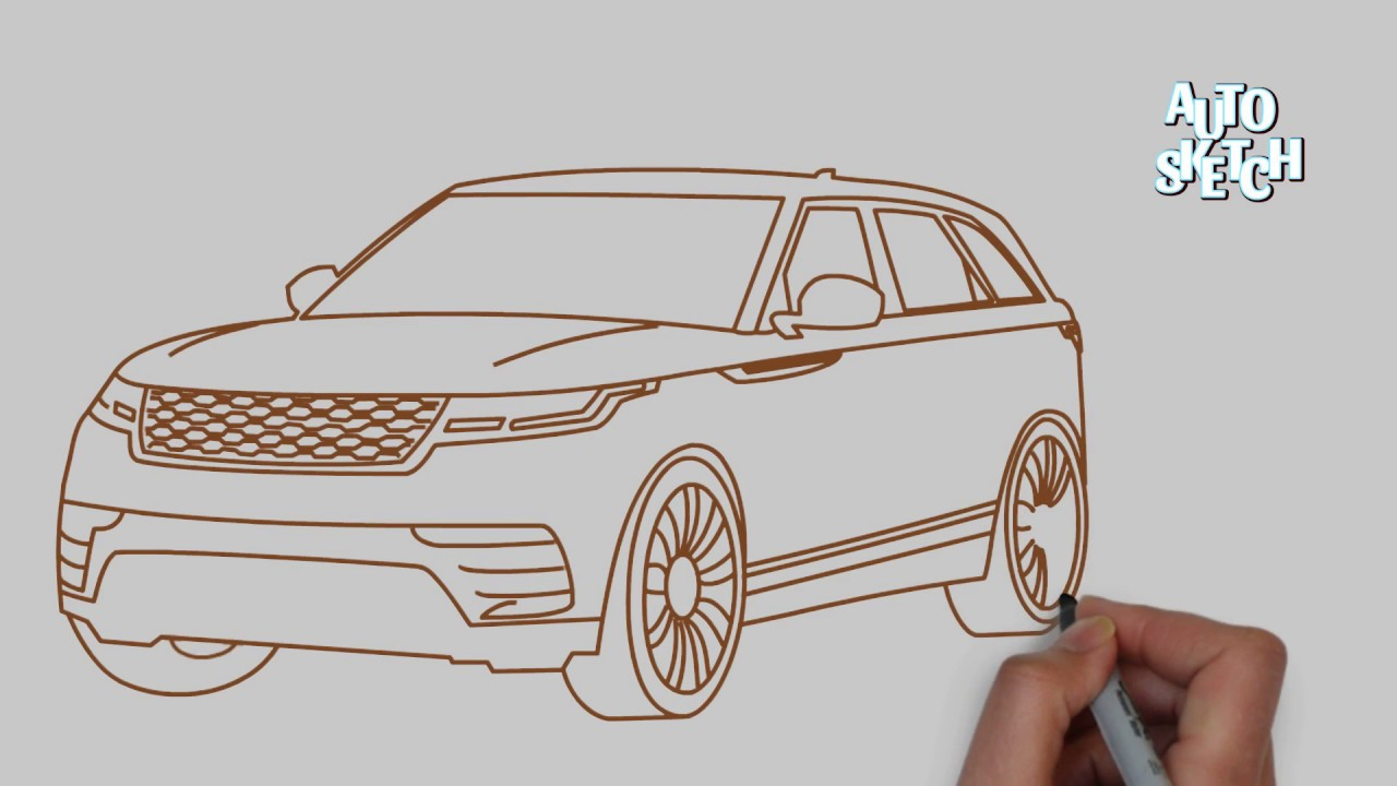 1280x720 How To Draw A Range Rover Velar(Cars Drawing)