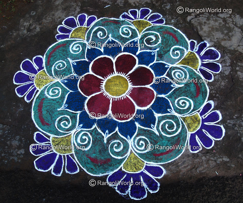 1024x856 Flower Drawing Rangoli Flower Rangoli Designs Collection