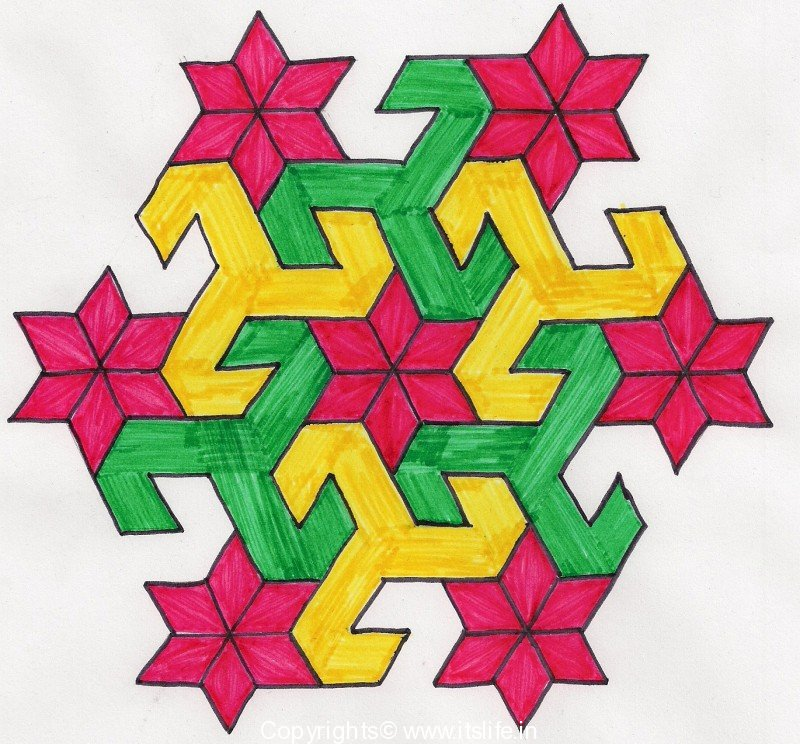 800x744 How To Draw Rangoli Rangoli Designs Kolam Hobbies