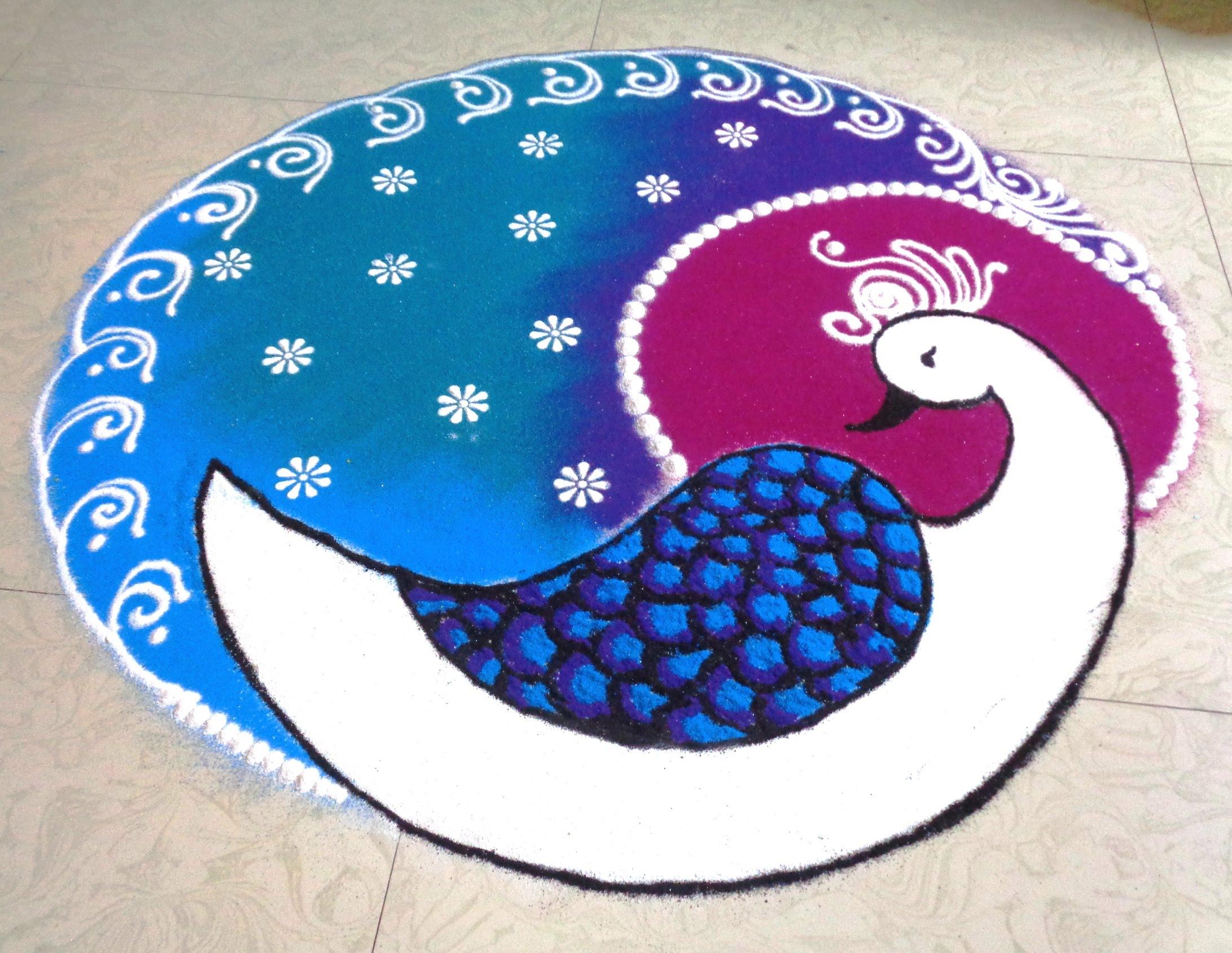 2183x1690 How To Draw Peacock Latest Rangoli
