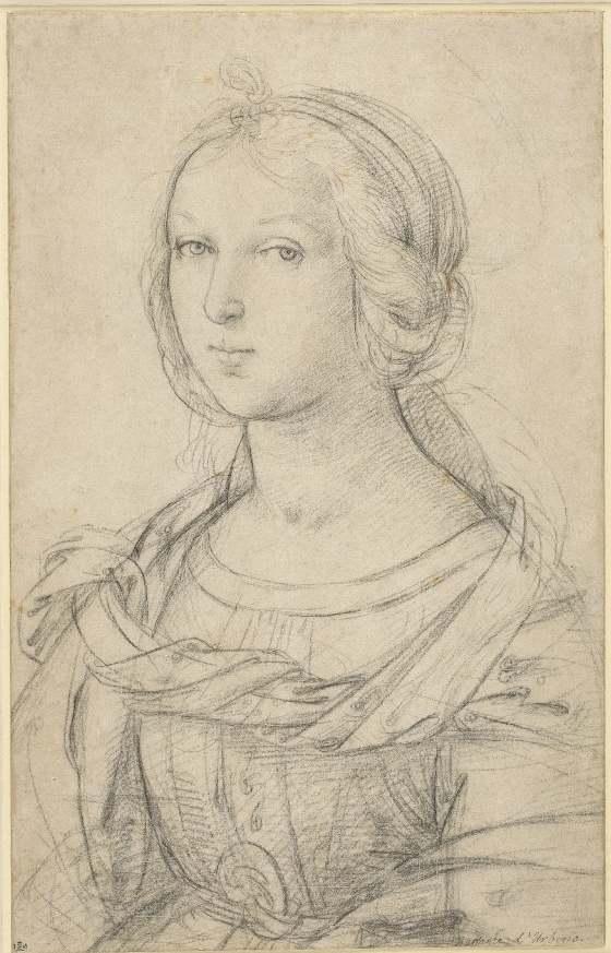 560x873 Raphael Female Saint Ca. 1504 Drawing Raphael