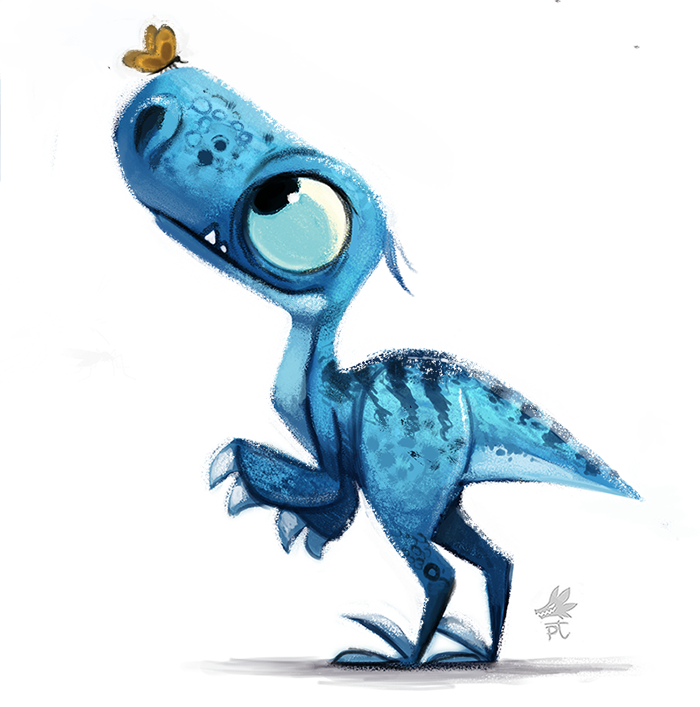 700x707 Daily Paint 651. Jurassic Book
