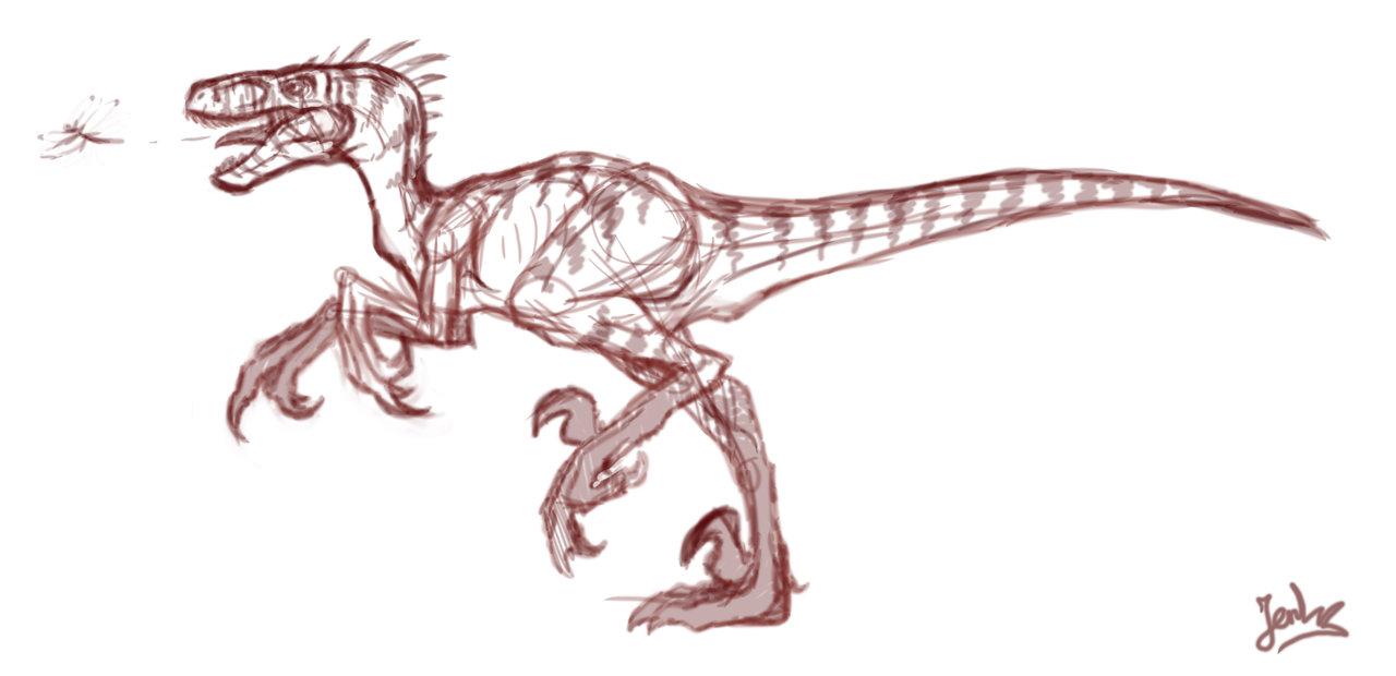 1280x620 Raptor Sketch By Mangakasan