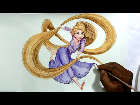 480x360 Drawing Disney's Princess Rapunzel From Tangled Speed Paint