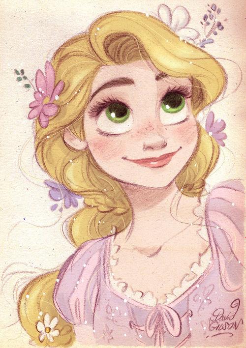 500x708 Rapunzel By David Gilson