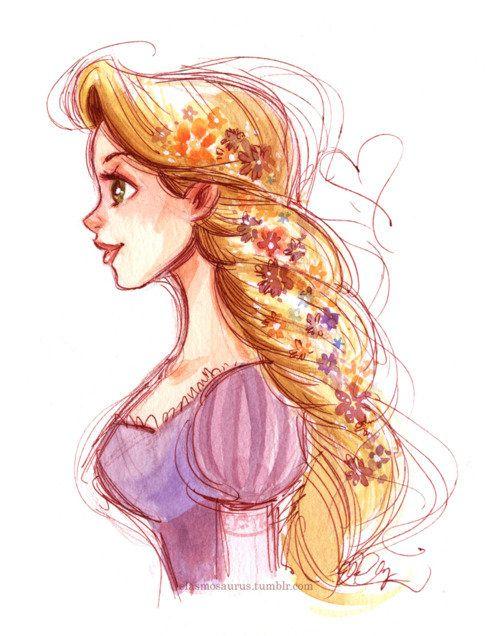 500x636 Rapunzel Fanart Is Always Super Pretty, Wish I Could Draw Like